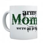 army mom strong mug