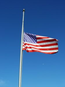 half mast flag