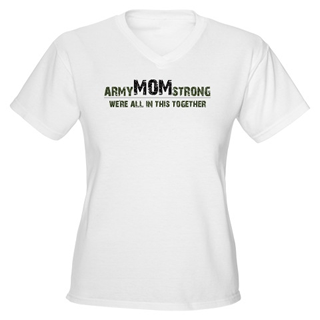 army mom strong tshirt