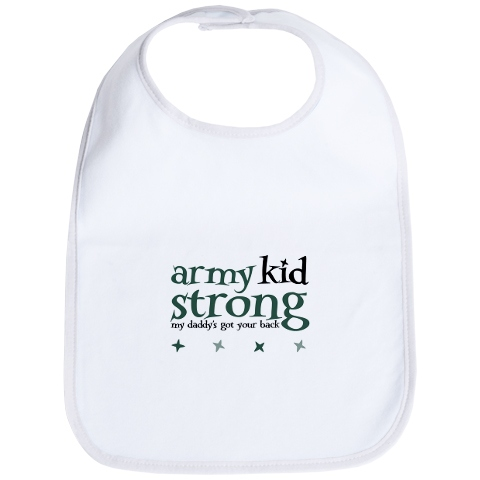 Army Kid Strong Bib