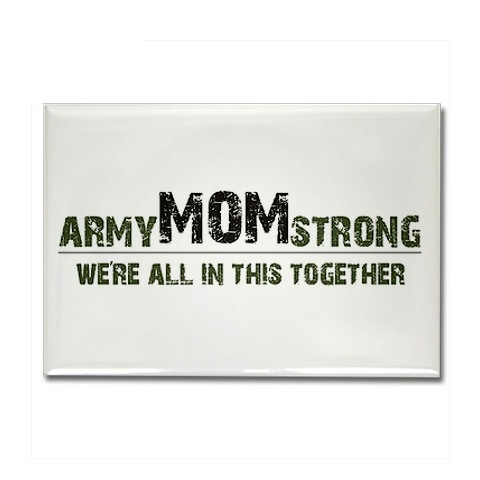 army mom strong magnet