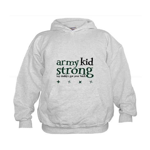 army kid strong sweatshirt