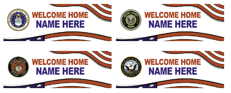 banners for miltary