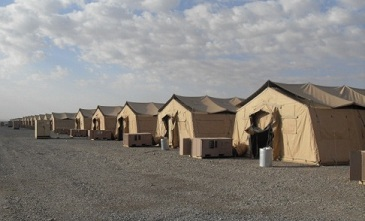 & Tent City for U.S. Troops in Afghanistan and Iraq