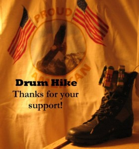 drum hike for our heroes