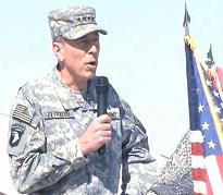 Gen. Petraeus Performs Re-enlistment Ceremony at Camp Mike Spann