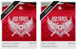Red Friday T-Shirts – Army Distressed Style