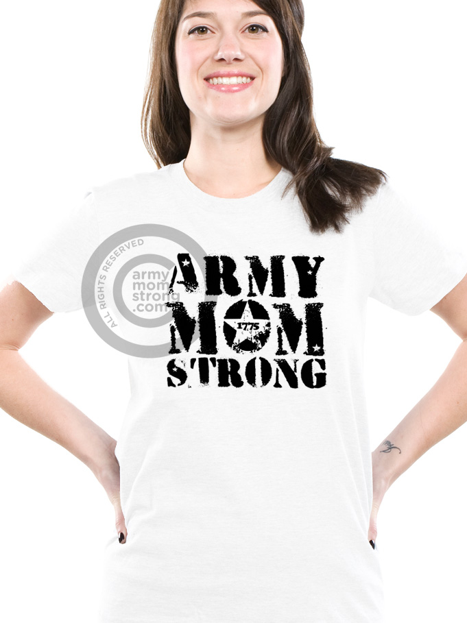Army Mom Strong Tshirts