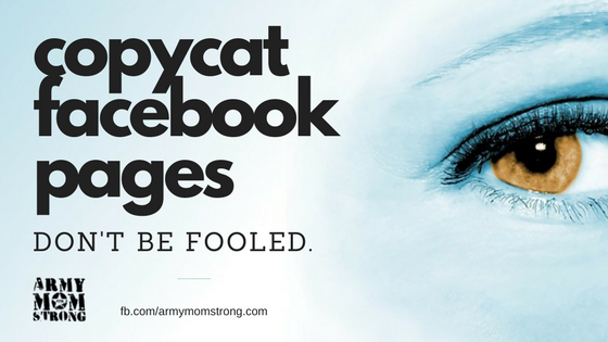 Beware of copy cat facebook pages