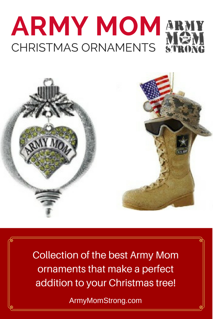 the best Army Mom ornaments that make a perfect addition to your Christmas tree.