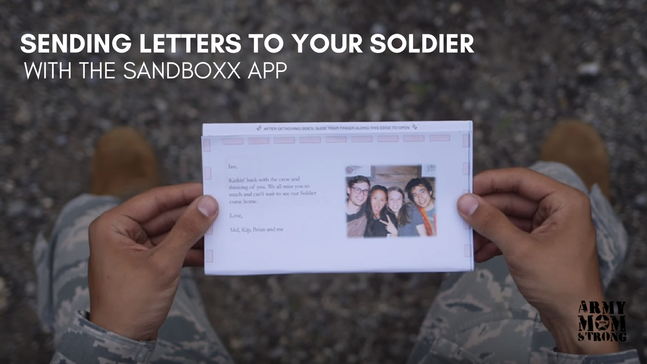 Use Sandboxx to end letters to your soldier