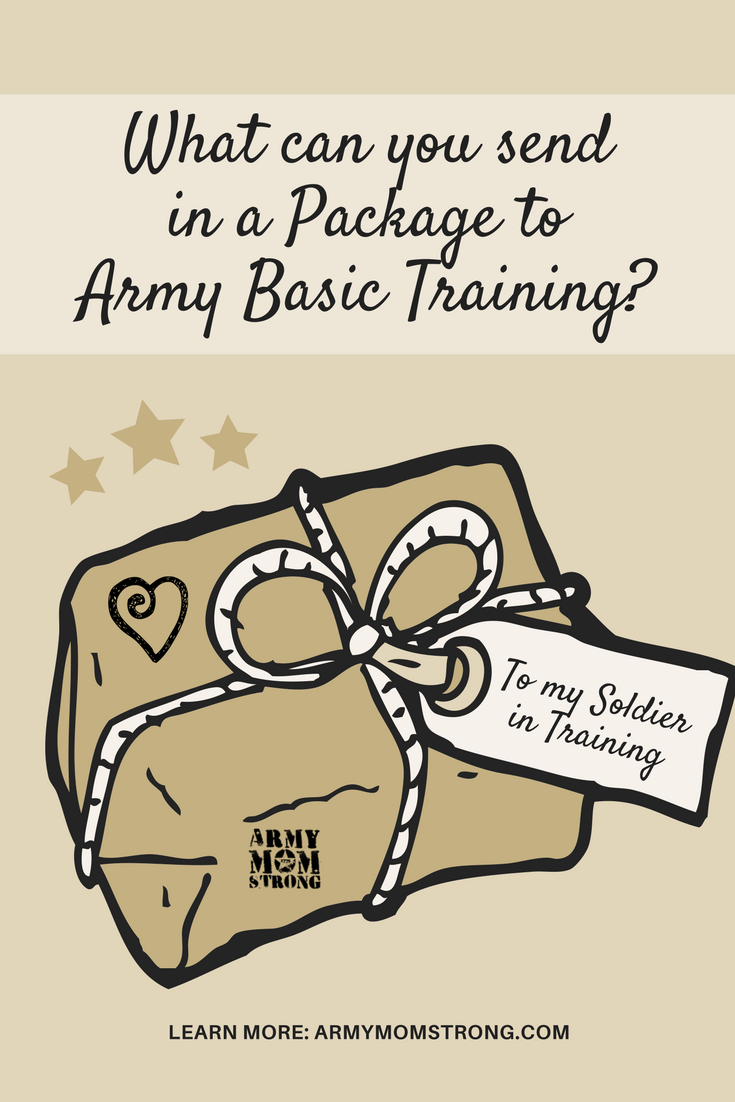 What can you send to your soldier in training during Army Basic Training? Here's a list of items that you can include in a package.