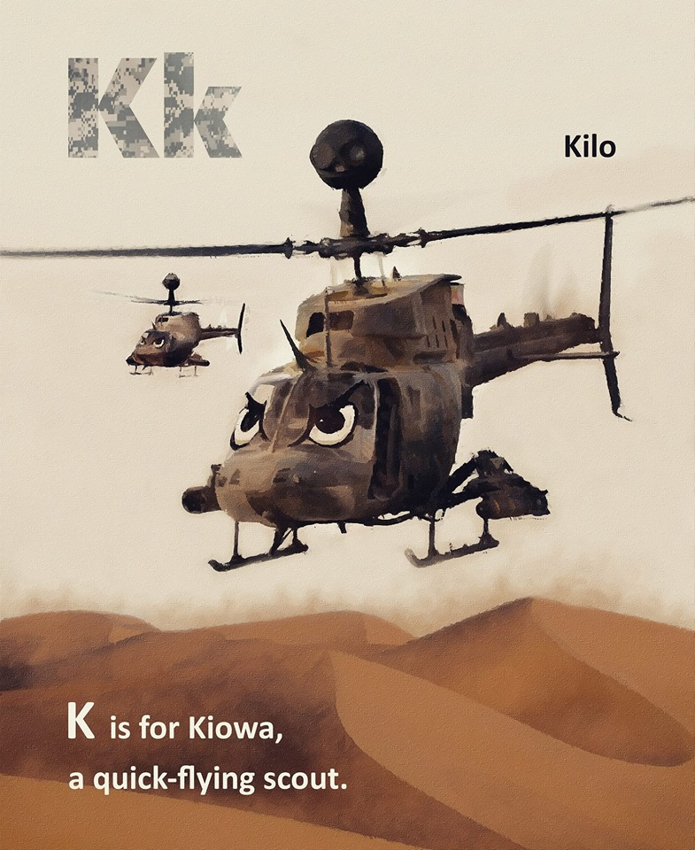 Kiowa Warrior ABC for kids