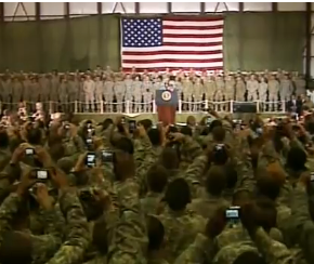 President Obama Speaks to Troops in Afghanistan